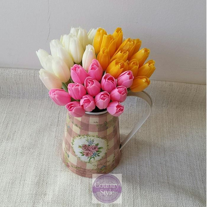 Jarní tulipán žlutý růžový smetanový  4d0671f375