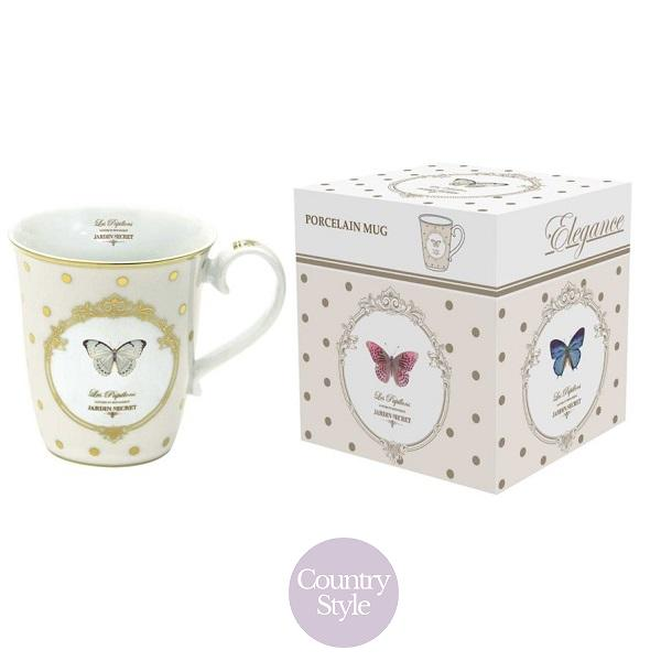 Porcelánový hrnek Dots & Butterfly 300ml