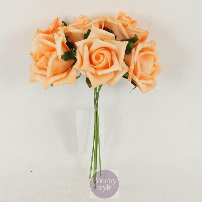 Růžičky pěnové-6ks  b53d55b723