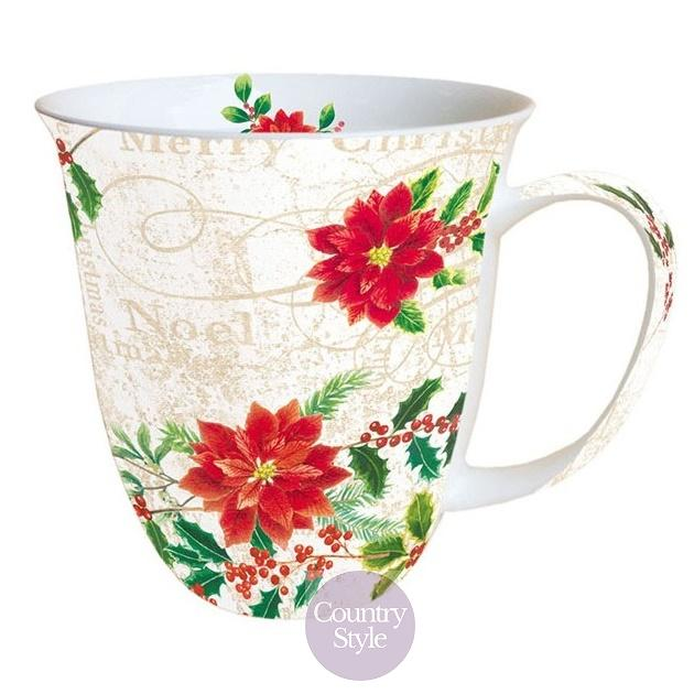 Porcelánový hrnek Poinsettie 400ml